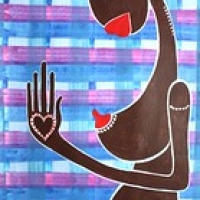 "Mamma Africa Cuore Incinta_williamvecchietti_2009  acrilici su tela cm36x62 • <a style=""font-size:0.8em;"" href=""http://www.flickr.com/photos/32339813@N04/3569118589/"" target=""_blank"">View on Flickr</a>"