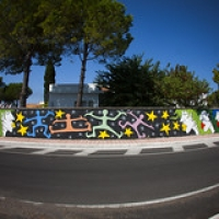 """""""rainbow humans"""" wallpainting in Galatina (LE) • <a style=""""font-size:0.8em;"""" href=""""http://www.flickr.com/photos/32339813@N04/20787404723/"""" target=""""_blank"""">View on Flickr</a>"""